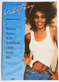 Whitney Houston - 'I Wanna Dance With Somebody' Postcard